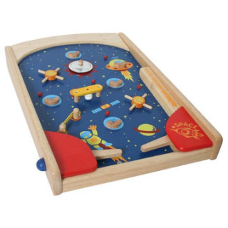 Space Pinball aus Holz
