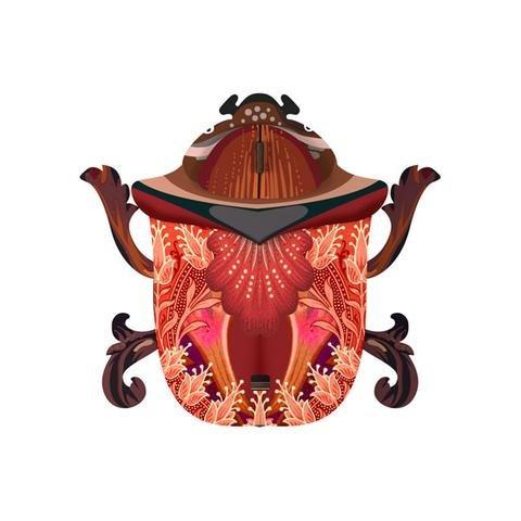 decorative beetle george ein wandschr nkchen in k ferform. Black Bedroom Furniture Sets. Home Design Ideas