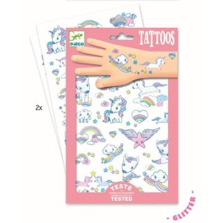 Djeco Tattoos Unicorns - Einhornmotive