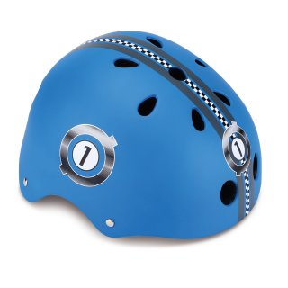 GLOBBER Helm Junior, RACING XS/S (51-54 cm) navy-blau