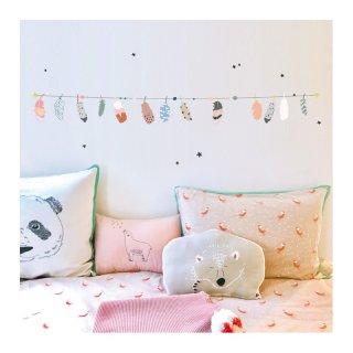 Wandsticker - Bordüre Federn neu für das Kinderzimmer