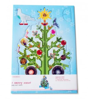 Studio Roof X-mas tree pop out card - Weihnachtskarte